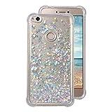 Coque Transparent Huawei P8 Lite(2017) Case,Rosa SchleifeSilicone Gel Etui de Protection Portable Téléphone Pochette arriere Bumper Coque Anti-choc Cover Coquille Protecteur Case (5.2 pouces)