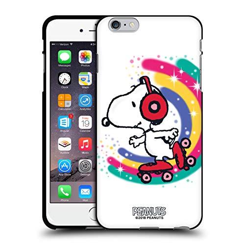 Head Case Designs Ufficiale Peanuts Skating Colorato Snoopy Passeggiata Aerografata Cover Nera in Morbido Gel Compatibile con Apple iPhone 6 Plus/iPhone 6s Plus