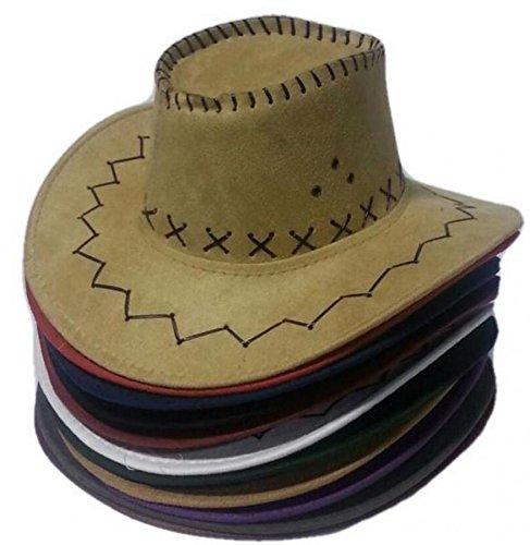 R&F srls 50 PZ Cappello Cowboy Cowgirl Scamosciato Festa Party Cappelli Country Western