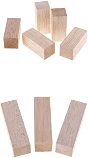 Bonarty 8Pcs/Set Balsa Wood Carving Blocks Solid Wooden Pieces for Whittler Starter Kids Adults Beginner 7cm & 10cm Long