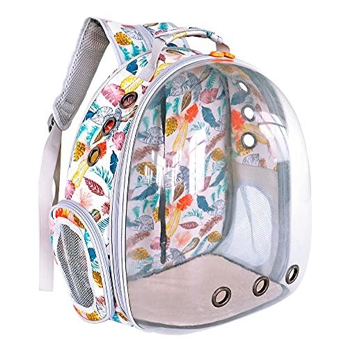 Bolsa portátil para Gatos Mochila Transpirable para Perros pequeños y Gatos Mochila para Viajes al Aire Libre Espacio cápsula Jaula Espacio...