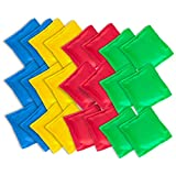 Super Z Outlet Nylon Cornhole Bean Bags Toy Set Sack Hand Toss Games Weights for Kids (5' x 5' Assorted Colors) (24 Pack)