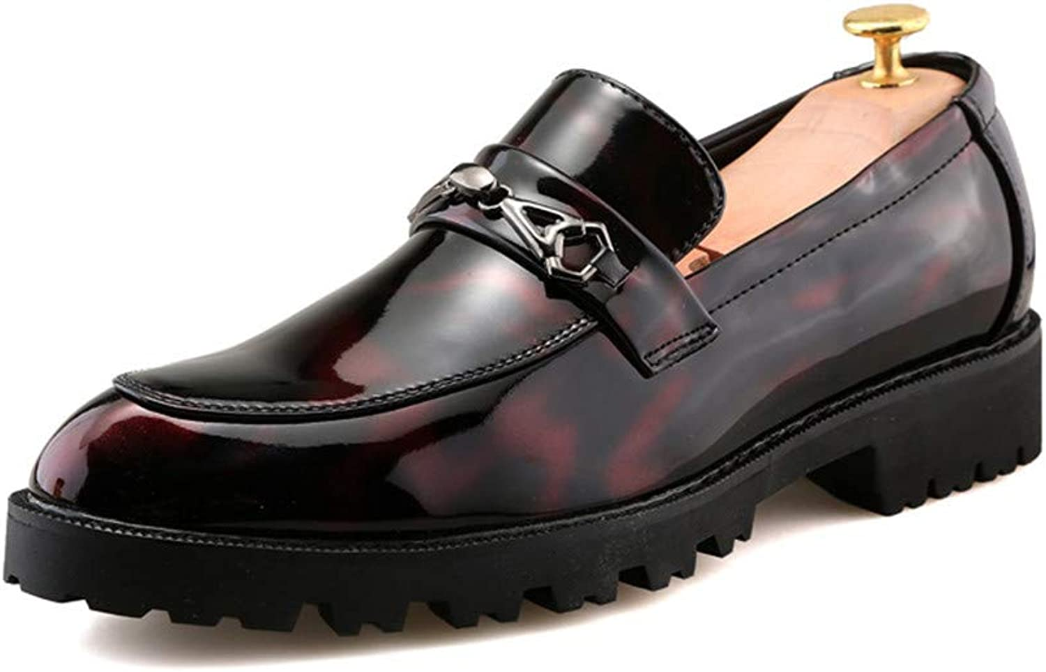 Z.L.F shoes Men's Business Oxford Fashion Round Toe Thick Patent Leather Formal shoes Leather shoes