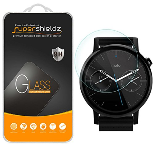 Supershieldz for Moto 360 46mm (2nd Gen) Tempered Glass Screen Protector, Anti Scratch, Bubble Free