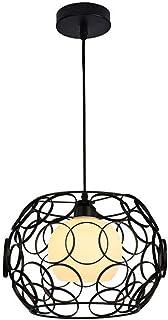 SXXYTCWL Pendentif Moderne Light American Noir Fer à nid d'oiseau Moderne Couette de nid d'oiseau Moderne E27 1 lumière Pe...