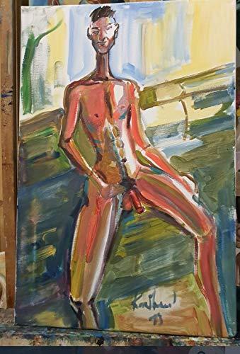 handgemaltes Acryl bild gemälde Sinead O'Connor abstract female famous faces portrait pop art by karibou