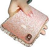 AIJOAIM Scintillante Cover per iPhone 12 Glitter Bling Brillantini Custodia con Bumper in Metallo Antiurto Ultra Sottile di Cristallo Back Cover,B,iPhone 12 PRO