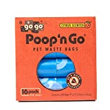 GoGo Pet Products Poop 'n Go Waste Bags (16 Rolls/240 Bags Per Box), Refreshing Citrus Scent, Sky Blue, Large