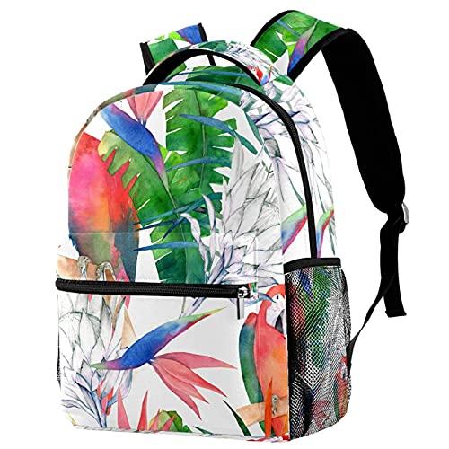 delayer Mochila de viaje unisex Loro pintado Mochila para portátil al aire libre de moda mochilas para niños y niñas