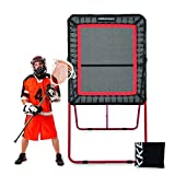 Rukket 4x8ft Lacrosse Rebounder Pitchback Training Screen   Practice Catching, Throwing, and Shooting with Rain Protection Screen