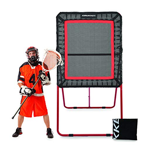 Rukket 4x8ft Lacrosse Rebounder Pitchback Training Screen | Practice Catching, Throwing, and...