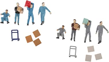 Sharplace 2 set 1:64 arbetare figurer layout actionfigur modell sand bord modell figur