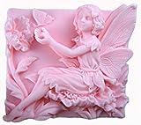 Hada Flores jugar con mariposa 50185Craft arte silicona jabón molde Craft moldes DIY