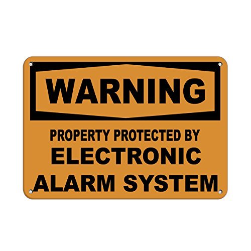 Aluminium Tin teken eigenschap beschermd door elektronisch alarmsysteem Plaque teken voor Yard Garage oprit huis hek