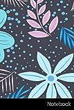 Notebook: Motif, Nature, Couleur, Bannière Carnet / Journal / Livre d'écriture / Calepin / Agenda / Notes - 6 x 9 pouces (15,24 x 22,86 cm), 150 pages, surface brillante.