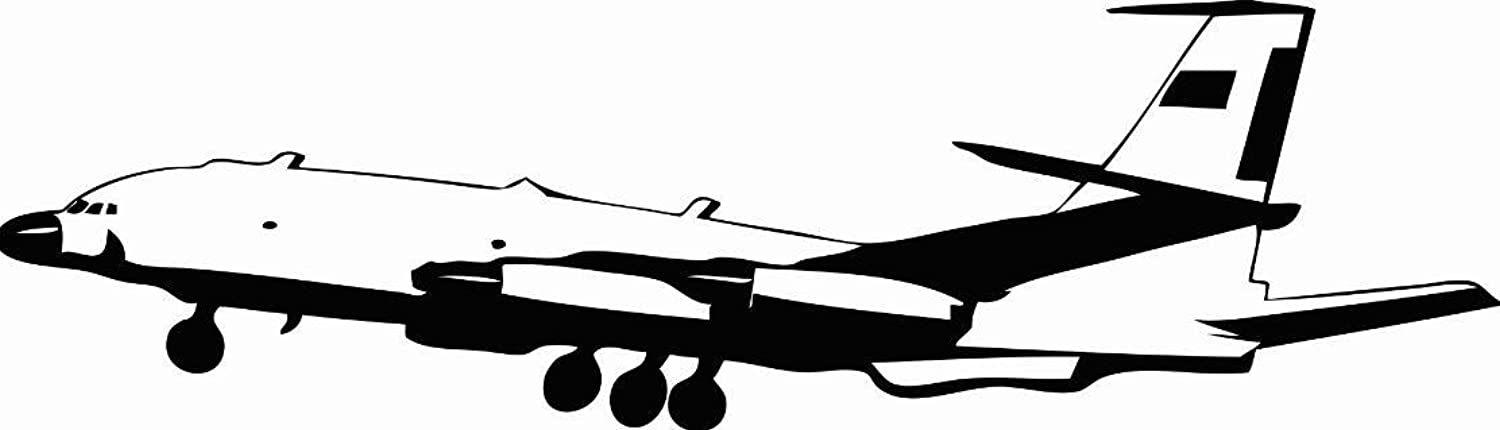 Vinyl Wall Decal Sticker   Airplane Aircraft Bedroom Bathroom Living Room Picture Art Peel & Stick Mural Size  30 Inches X 90 Inches - 22 colors Available