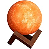 """Pure Himalayan Salt Works Illumination Sphere, Pink Crystal Salt Lamp with Neem and Hand-Stained Mounted Base, Includes 15W Bulb and Toggle On/Off Switch, 6"""" L x 6"""" W x 8"""" H"""