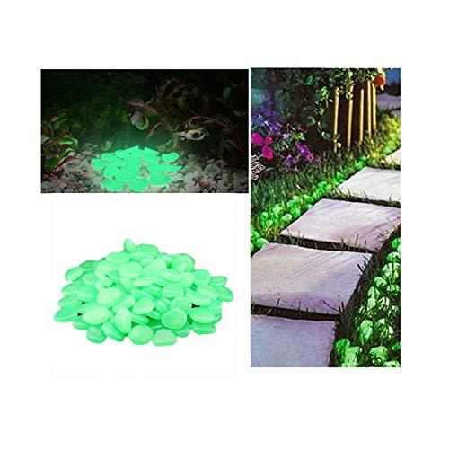 OVERMAL 50 Stück Leuchtsteine Outdoor Leuchtender Pebble Steine Leuchtkiesel Dunkeln Leuchtende Kieselsteine Dekorative Steine für Halloween Aquarium Garten Flur Kinderzimmer Dekoration