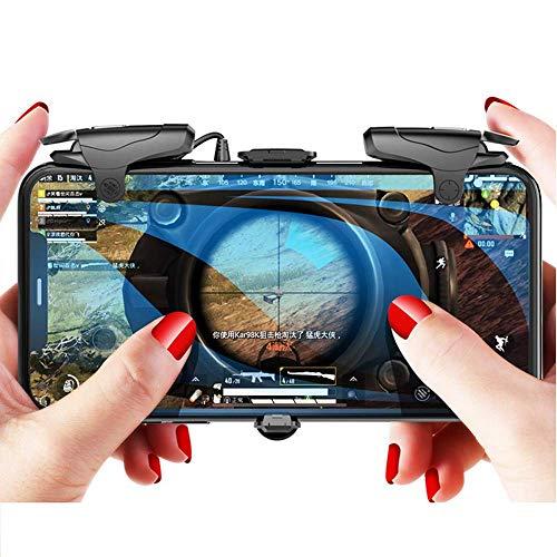 PUBG Mobile Controller – Aovon 4 Modi Auto Hochfrequenz L1R1 Shooting Game Trigger Joystick Gamepad Griff für 11,9 - 16,5 cm Smartphone