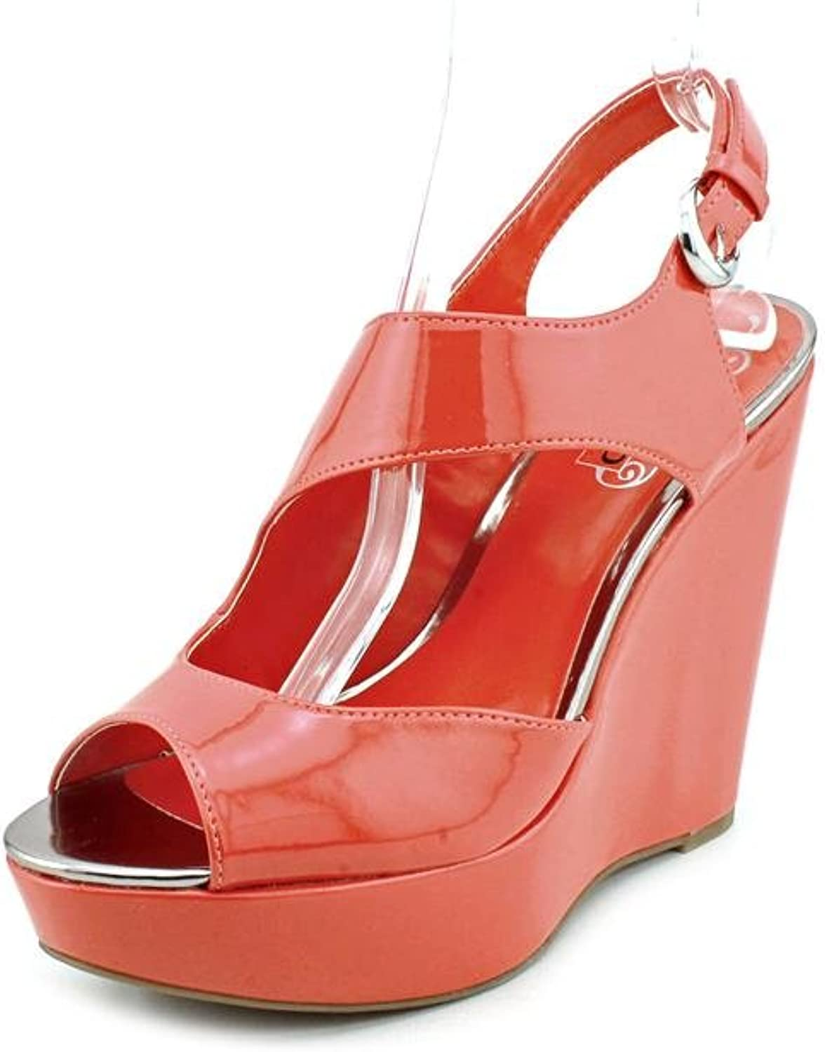Unlisted Women's Bend-Able Sandal 7 B(M) US Coral-Patent