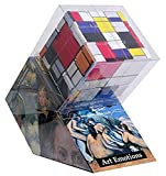 V-Cube- Rompecabezas de 3 x 3 x 3 con temática de Mondrian, Multicolor (VCB-3-MONDRIAN)