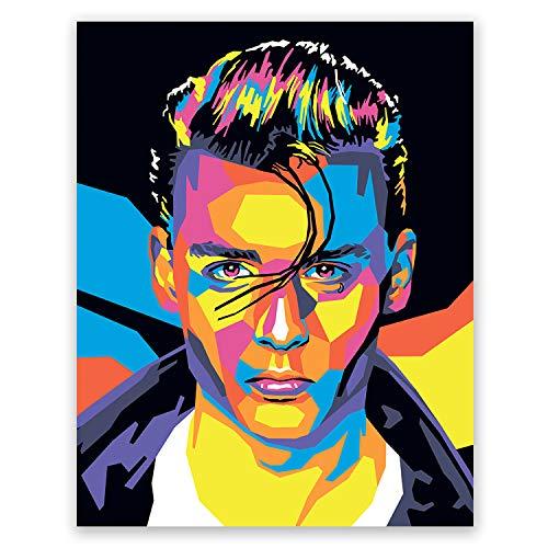 Johnny Depp Poster - Cry Baby Art Print – Movie Portrait – Pop Art Home Wall Decor (11x14)