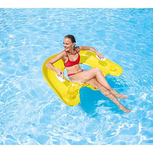 Intex - 58859EU - Jeu de Plein Air - Matelas de piscine semi-immergé 152x99cm,Coloris aléatoire
