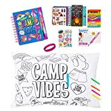 3C4G Kids Summer Camp Gift Set Kit - Autograph Pillowcase, Journal with Stationary, Postcards, Stickers and Wristband Accessory