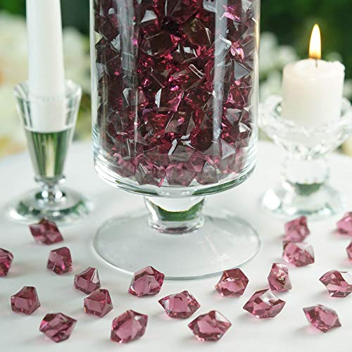 Efavormart 300 pcs Eggplant Large Acrylic Ice Crystals Wedding Party Table Scatters Decorations for Banquet Events Decorations