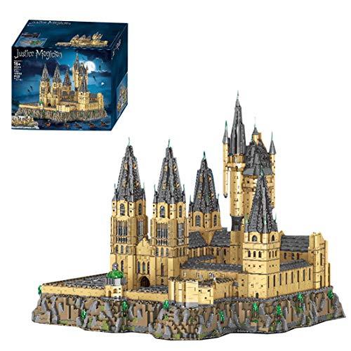 Sunbary 12918 Pieces Castle Hogwarts Upgrade Custom Building Blocks, Castle Model Building Set Compatible with Lego 71043 Harry Potter Castle Hogwarts