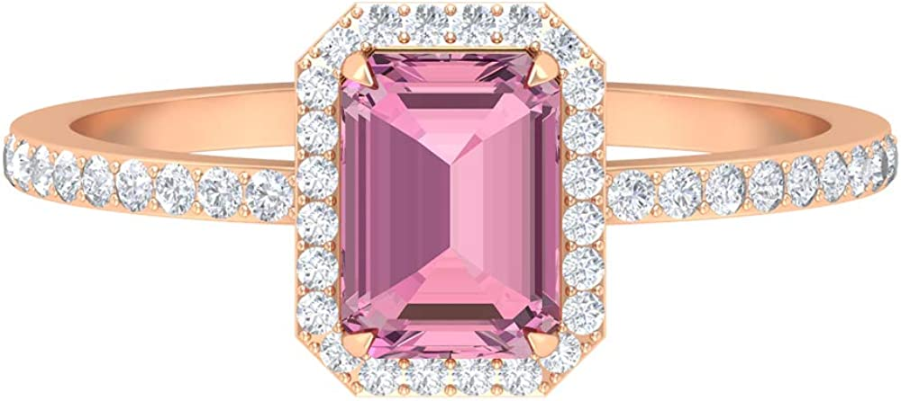1.51 CT Solitaire Tourmaline Max 87% OFF Ring Octagon 7X5 HI Las Vegas Mall Shape MM