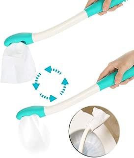 Tergicristallo inferiore per attrezzi da toilette manico lungo da 15 Comfort di supporto per tergicristallo inferiore Manico per carta igienica Supporto per pulizia automatica