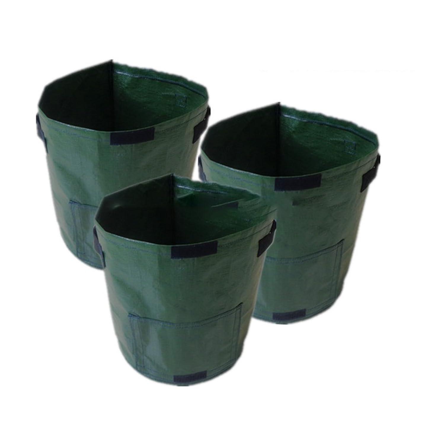 禁止する放出瞑想する自立式 ガーデンバケツ 再利用可能な折り畳み式草廃棄物バッグ、植物性植物、通気性および保湿性の生長バッグ 大容量