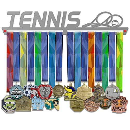 VICTORY HANGERS Porta Medaglie TENNIS Medal Hanger * Medal Display | Medagliere Da Muro | Elegante Espositore Per Medaglie * 100% Acciaio Inossidabile | Medagliere Da Parete | Per I Campioni !