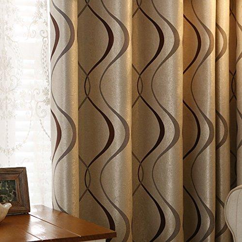 adaada 2er-Set Moderne Art Geometrische Vorhänge Wohnzimmer Vorhänge (230 * 135cm, Braun)