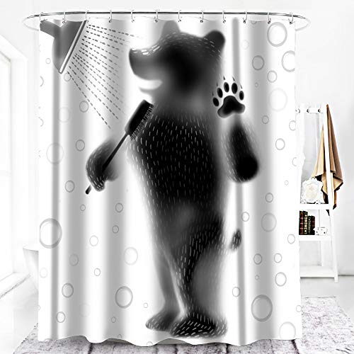 Duschvorhang, 100prozent Polyester, anti-Schimmel Straight Bären