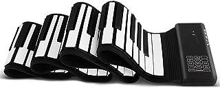 88 Key Hand Rolled Piano Foldable Portable Midi Piano Home Digital Piano Electronic Keyboard (Color : Black)