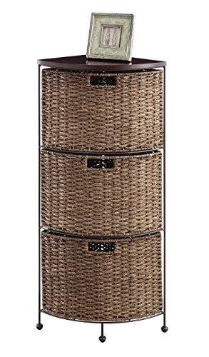 4D Concepts Farmington 3 Tier Corner Maize Weave Drawer