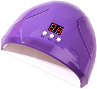 Lurrose 36W Gel UV LED Nail Lamp Auto Sensor Nail Dryers Professional Salon Gel Nail Polish Curing Lamp (Purple)