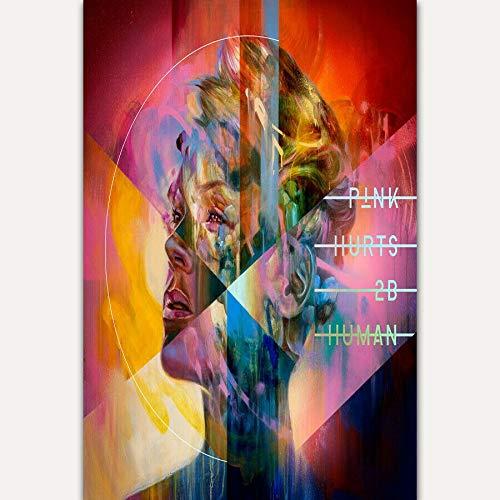 linbindeshoop P!nk Hurts 2B Human 2019 Pink Music Album Tour Wall Poster Art Decor Sticker Bright(LY-2042) 40x60cm Kein Rahmen