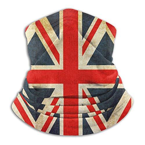 Union Jack British Flag Neck Gaiter Windproof Scarf Face Masks Anti-Dust for Men Black