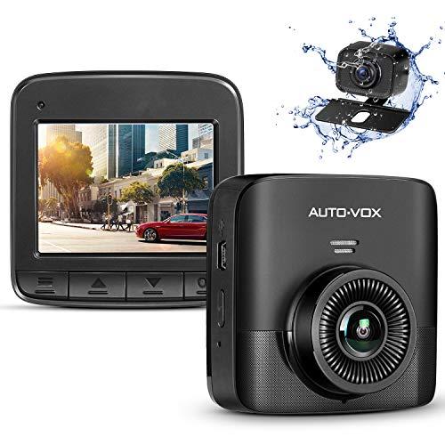 """Auto-VOX Upgrade D5PRO FHD 1520P Dual Dashcam, Autokamera Vorne und Hinten mit AHD720P Rückfahrkamera, 2,4\"""" LCD Bildschirm, Nachtsicht, G-Sensor, Loop-Aufnahme, Bewegungserkennung, Parküberwachung"""