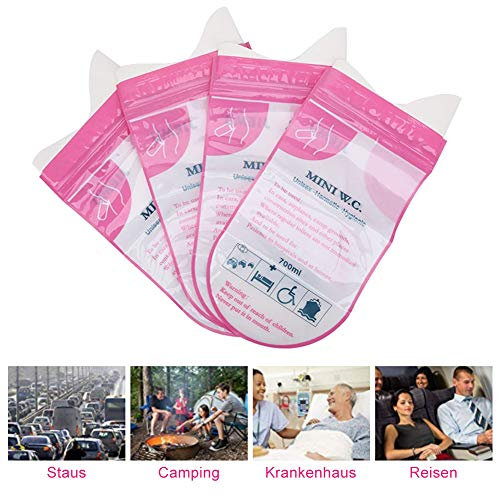 Bnineteenteam 8 Pcs Disposable Urine Bags, 700ml Super Absorbent Sealable Pee Bag Vomit Bags for Outdoor Activities, Traffic Jams and Driving a Long-Distance Car ect
