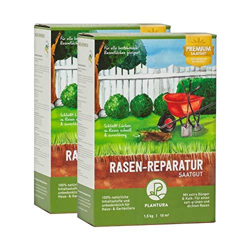 Plantura Rasen-Reparatur, 3 kg, Premium-Saatgut zur Rasenausbesserung, mit Dünger & Kalk