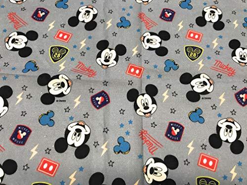 tela de disney mickey mouse caras 100% algodón 1 mts x 140 cms