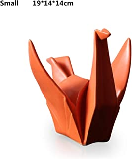 Nordic Creative Modern Abstract Ceramic Origami Statue Animal Figurine Sculpture for Home Decorations Gift