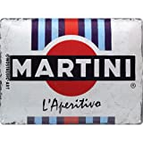 Nostalgic-Art 23290 MARTINI – L'Aperitivo Stripes –