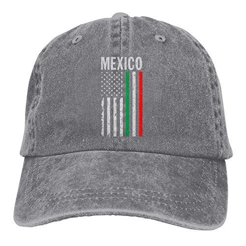 Yiwu USA Mexiko Flagge Herren/Damen verstellbare Baseballmützen Denim Stoff Sonnenhut