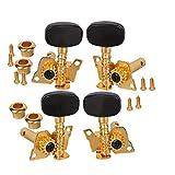 Uctop Store, piroli placcati in oro 2R2L accordatori per ukulele a 4corde