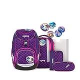 ergobag Pack-Set Mochila, Unisex niños, Pink Waves, 20 L